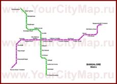 Карта метро Бангалора