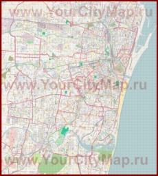 Подробная карта города Ченнаи