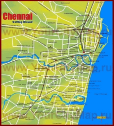 Туристическая карта Ченнаи