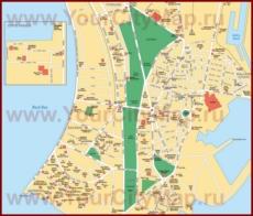 Карта центра Мумбая с достопримечательностями