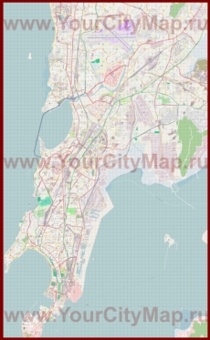 Подробная карта города Мумбай