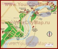 Карта города Ришикеш с достопримечательностями