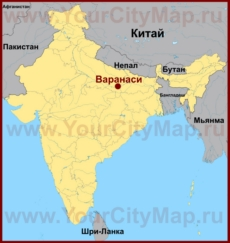 Варанаси на карте Индии
