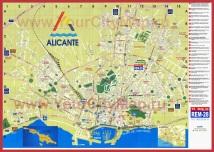 Подробная карта Аликанте