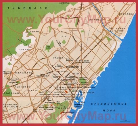 Карта Барселоны на русском