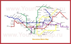 Схема - Карта метро Барселоны