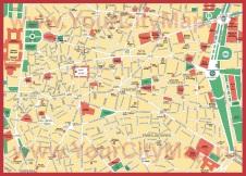 Карта города Мадрид