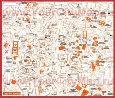 Карта Мадрида с достопримечательностями