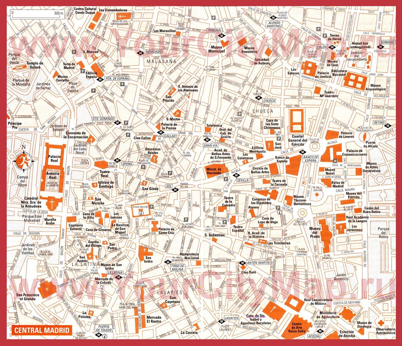 Карта Валенсии С Достопримечательностями