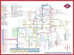 Схема - Карта метро Мадрида
