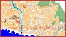 Подробная карта Малаги
