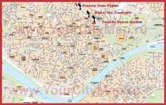 Карта города Севилья с достопримечательностями