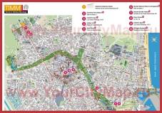 Подробная карта города Валенсия