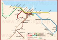 Карта метро Бари