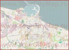 Подробная карта города Бари