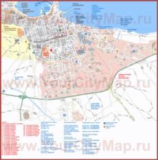 Туристическая карта Бари с достопримечательностями