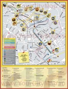 Туристическая карта Бергамо с достопримечательностями