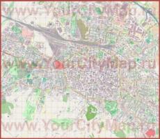 Подробная карта города Болонья