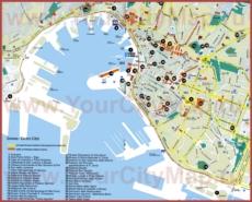 Карта достопримечательностей Генуи
