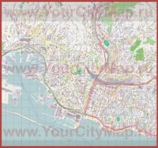 Подробная карта города Генуя