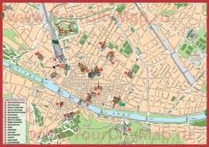Достопримечательности Флоренции на карте