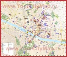 Подробная карта города Флоренция