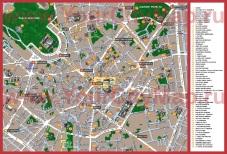 Достопримечательности Милана на карте