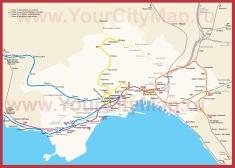 Карта метро Неаполя (Схема)