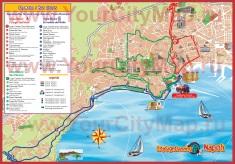 Туристическая карта Неаполя с достопримечательностями