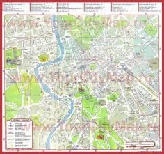 Карта города Рим с улицами