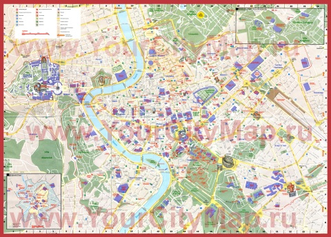 Подробная карта Рима на русском языке