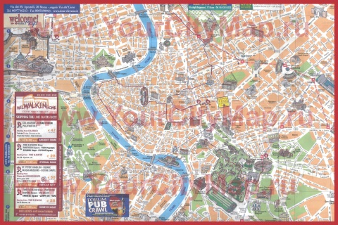 Туристическая карта Рима с достопримечательностями