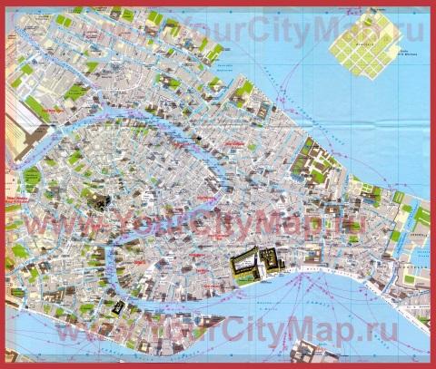Карта Венеции с отелями