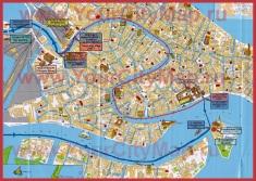 Туристическая карта Венеции с достопримечательностями