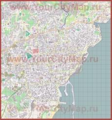 Подробная карта города Катания