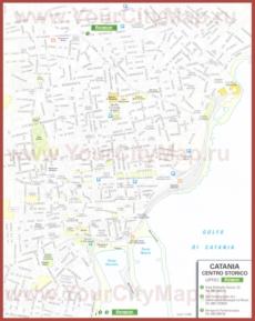 Туристическая карта Катании