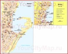 Туристическая карта Мессины с достопримечательностями