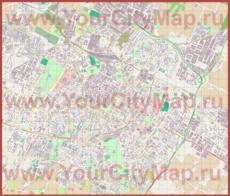 Подробная карта города Модена