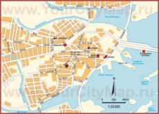 Туристическая карта Олбии с достопримечательностями