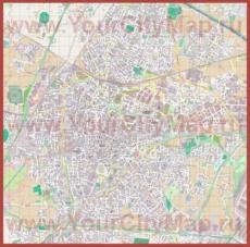 Подробная карта города Падуя