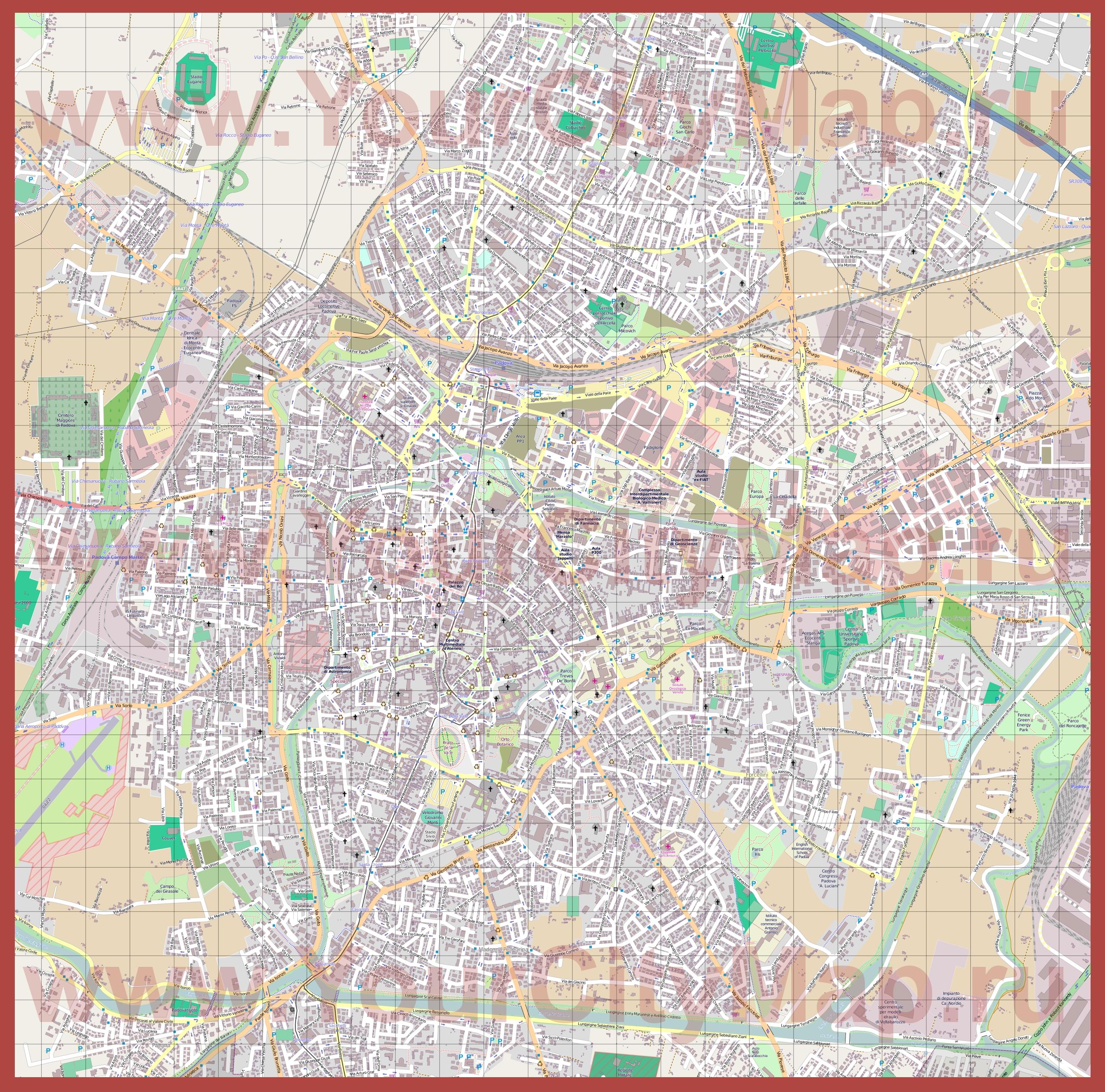 Вилламартин Падуя на карте