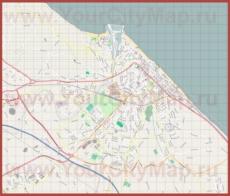 Подробная карта города Пезаро