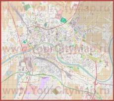 Подробная карта города Пиза