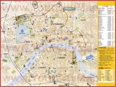 Туристическая карта Пизы с отелями и достопримечательностями