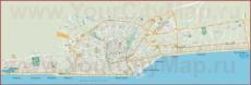 Подробная туристическая карта Римини с районами