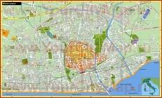 Туристическая карта Римини с достопримечательностями