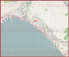 Подробная карта города Салерно