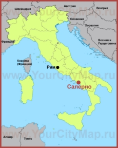 Салерно на карте Италии