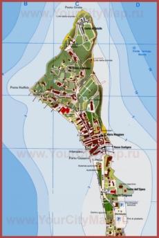 Туристическая карта Сирмионе с достопримечательностями
