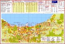 Подробная туристическая карта города Сорренто с достопримечательностями